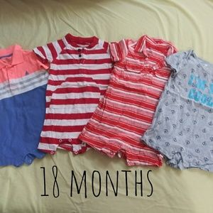 Lot of 18 months bodysuit short onsie one peices